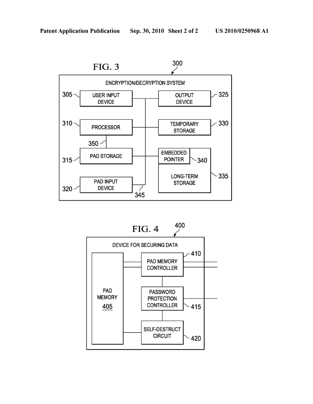 DEVICE FOR DATA SECURITY USING USER SELECTABLE ONE-TIME PAD - diagram, schematic, and image 03