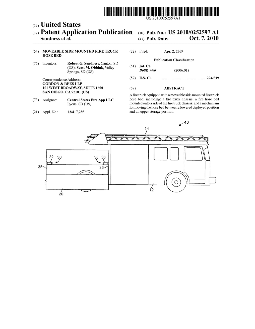 Moveable Side Mounted Fire Truck Hose Bed Diagram Schematic And Image 01