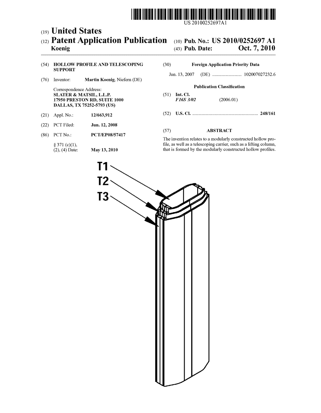 Hollow Profile and Telescoping Support - diagram, schematic, and image 01