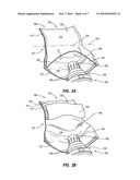 INFLATABLE AIRBAG CUSHION ASSEMBLIES WITH MODIFIED THROAT PORTIONS diagram and image