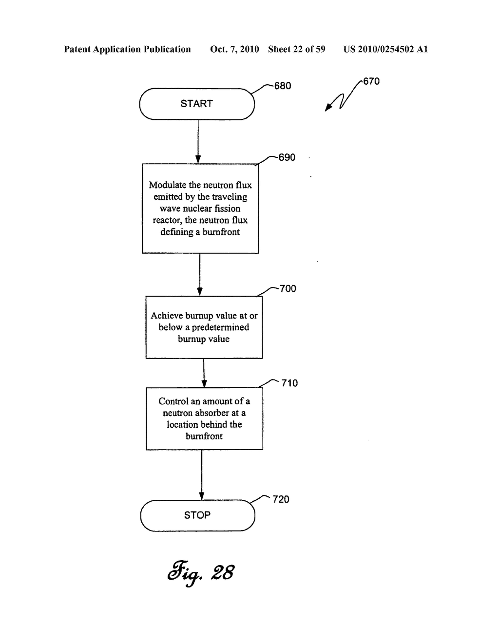Traveling wave nuclear fission reactor, fuel assembly, and method of controlling burnup therein - diagram, schematic, and image 23