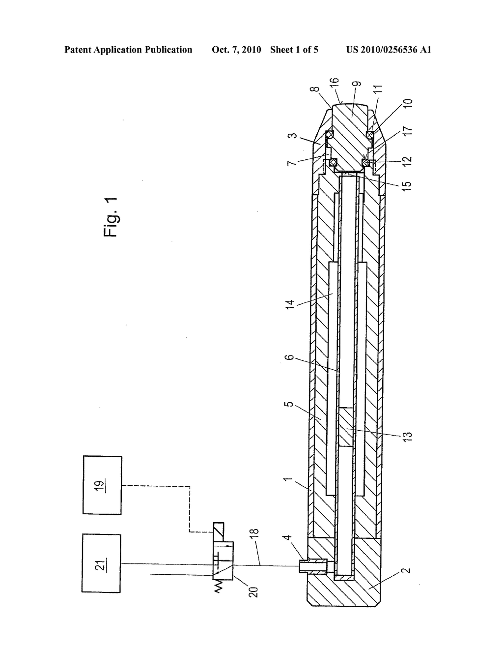 Apparatus for treating a human or animal body by mechanical shockwaves having an exchangeable impact body - diagram, schematic, and image 02