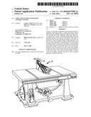 TABLE SAWS HAVING INTEGRATED CONTROL SYSTEMS diagram and image