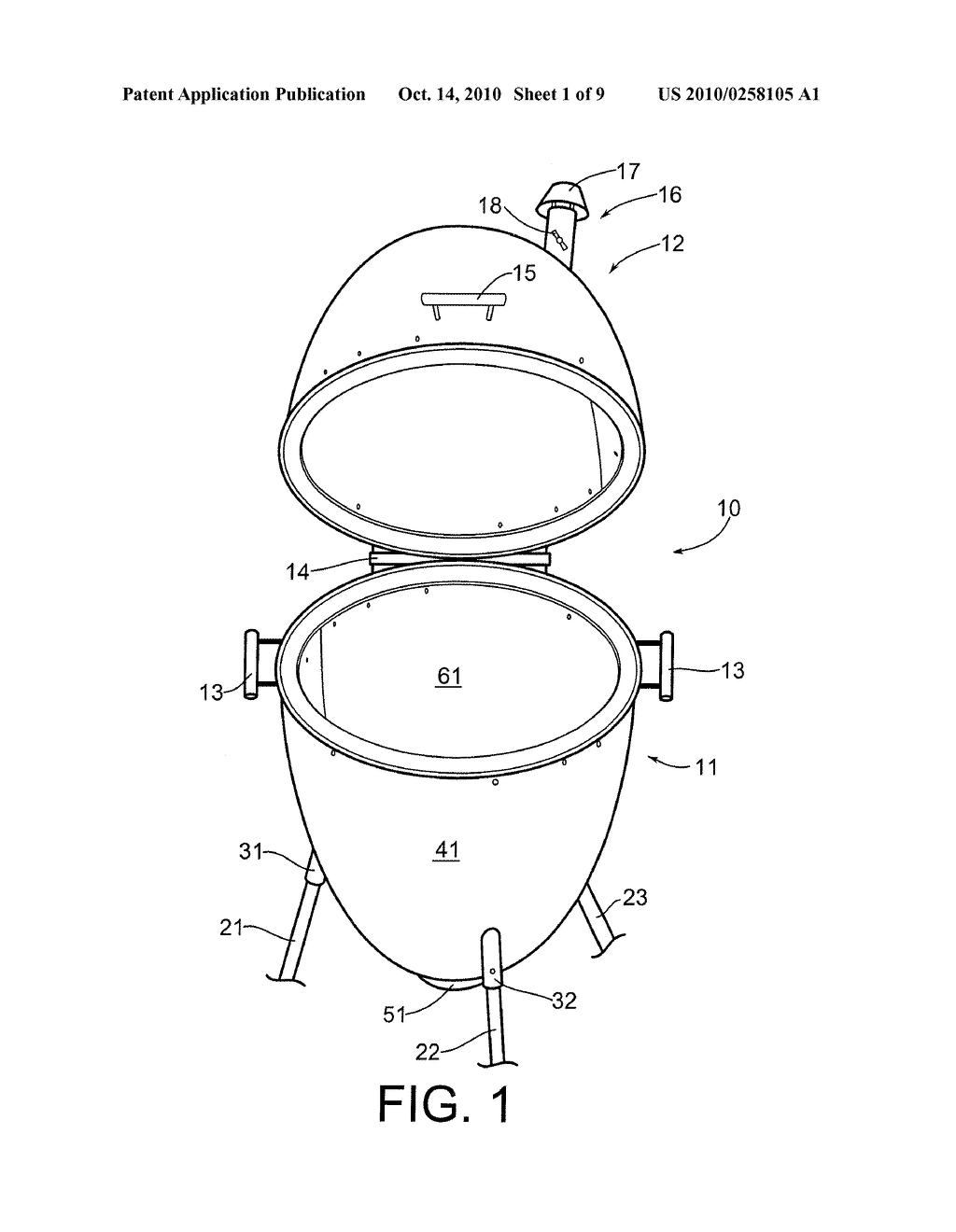EGG-SHAPED OUTDOOR COOKER - diagram, schematic, and image 02
