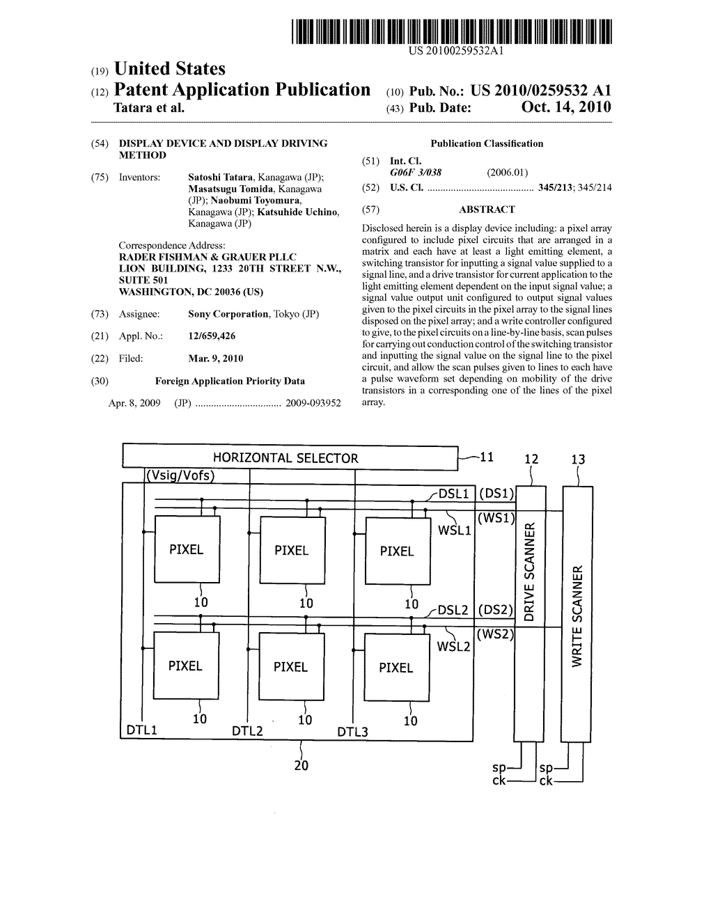 Display device and display driving method - diagram, schematic, and image 01