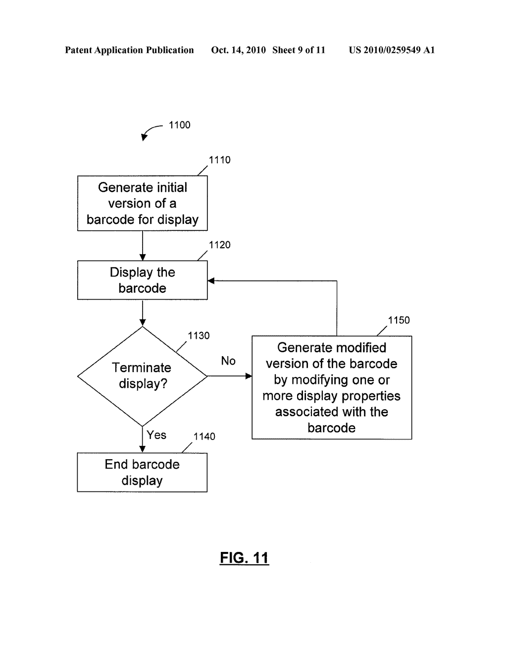 SYSTEMS, DEVICES, AND METHODS FOR DISPLAYING A BARCODE AT A COMPUTING DEVICE - diagram, schematic, and image 10