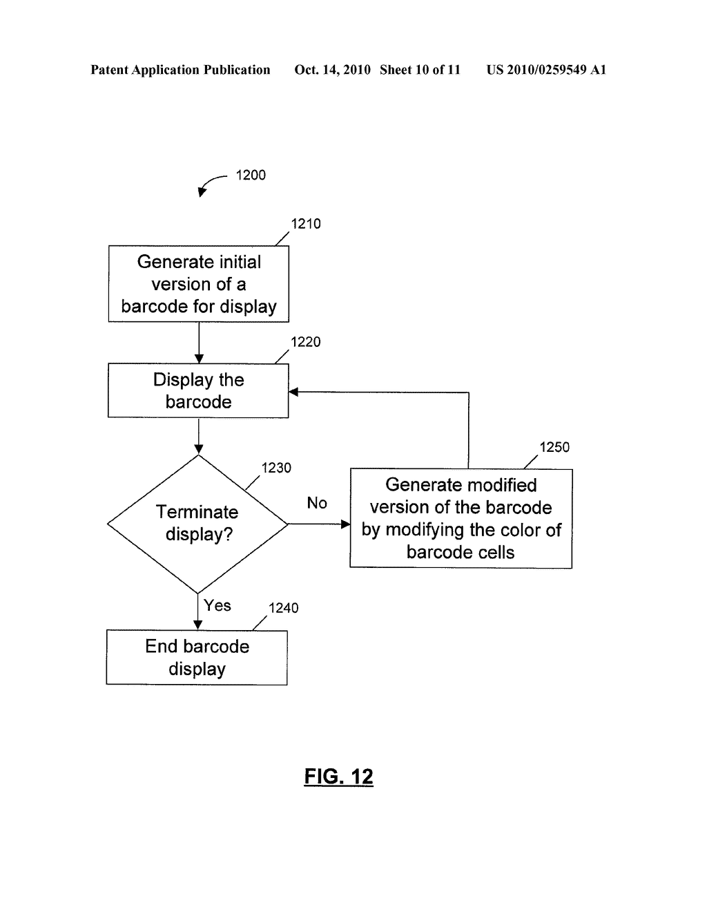SYSTEMS, DEVICES, AND METHODS FOR DISPLAYING A BARCODE AT A COMPUTING DEVICE - diagram, schematic, and image 11