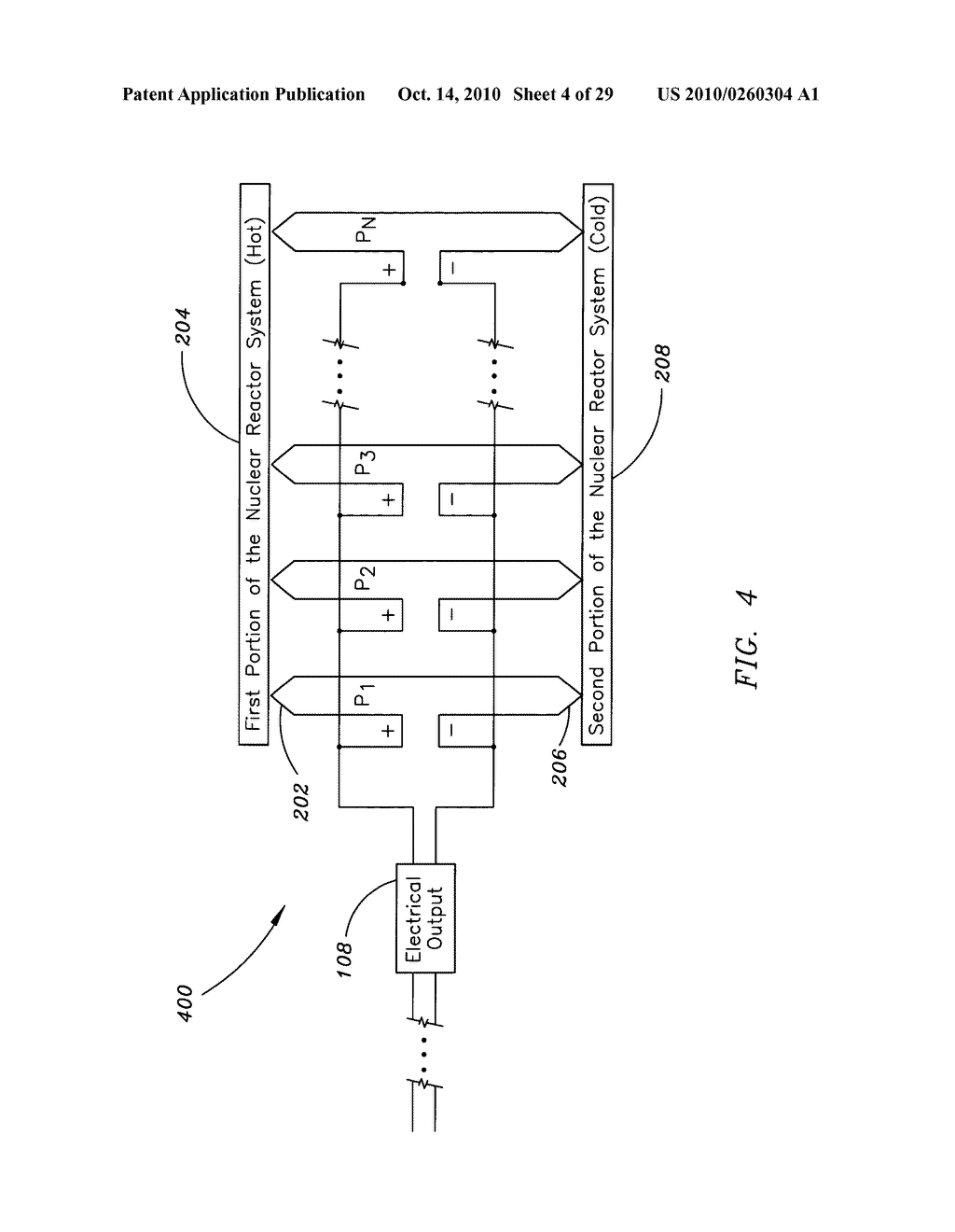 Method, system, and apparatus for the thermoelectric conversion of gas cooled nuclear reactor generated heat - diagram, schematic, and image 05