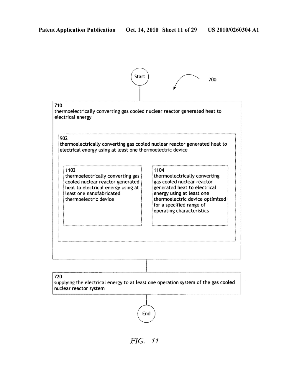 Method, system, and apparatus for the thermoelectric conversion of gas cooled nuclear reactor generated heat - diagram, schematic, and image 12
