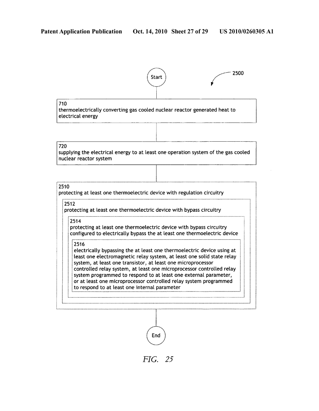 Method, system, and apparatus for the thermoelectric conversion of gas cooled nuclear reactor generated heat - diagram, schematic, and image 28