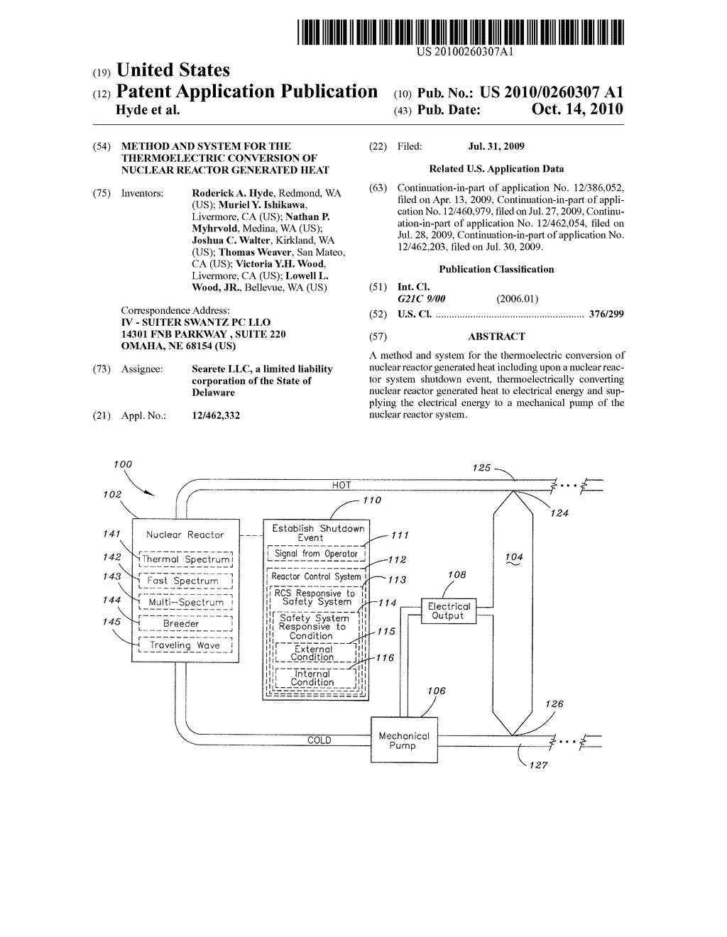 Method and system for the thermoelectric conversion of nuclear reactor generated heat - diagram, schematic, and image 01