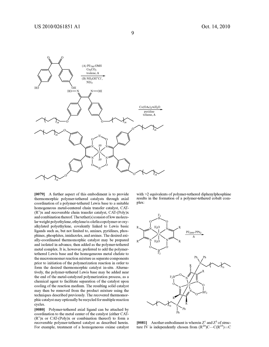 Recoverable polymer-bound homogeneous catalysts for catalytic chain transfer process - diagram, schematic, and image 10
