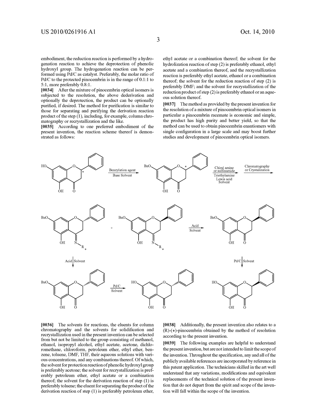 METHOD FOR RESOLUTION OF A MIXTURE OF PINOCEMBRIN OPTICAL ISOMERS, ESPECIALLY A PINOCEMBRIN RACEMATE - diagram, schematic, and image 04