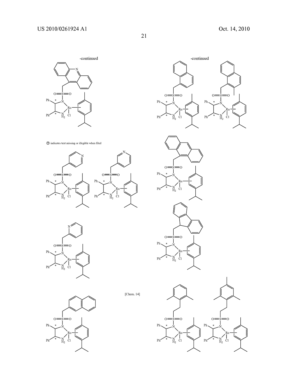 ASYMMETRIC CATALYST AND PROCESS FOR PREPARING OPTICALLY ACTIVE ALCOHOLS USING THE SAME - diagram, schematic, and image 22