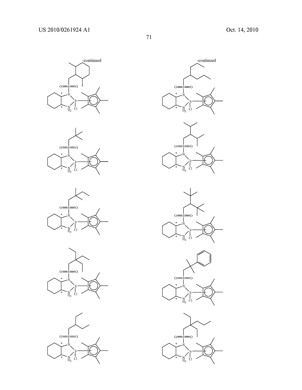ASYMMETRIC CATALYST AND PROCESS FOR PREPARING OPTICALLY ACTIVE ALCOHOLS USING THE SAME - diagram, schematic, and image 72