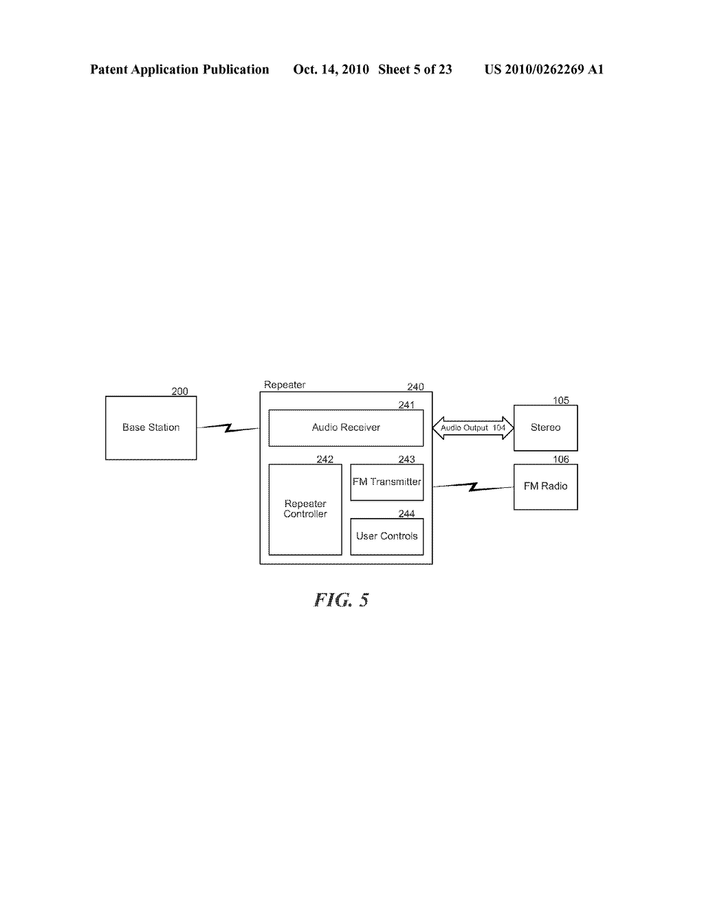 STRUCTURE AND METHOD FOR SELECTING, CONTROLLING AND SENDING INTERNET-BASED OR LOCAL DIGITAL AUDIO TO AN AM/FM RADIO OR ANALOG AMPLIFIER - diagram, schematic, and image 06
