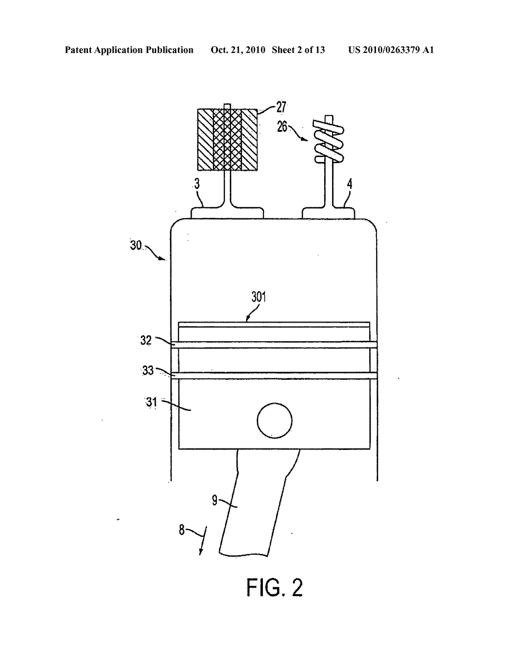 HYDROGEN FUELED EXTERNAL COMBUSTION ENGINE AND METHOD OF CONVERTING INTERNAL  COMBUSTION ENGINE THERETO - diagram, schematic, and image 03