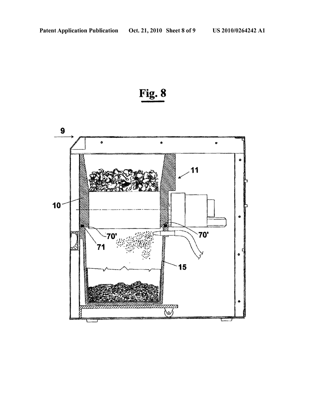 APPARATUS AND METHOD FOR GRINDING KITCHEN WASTE - diagram, schematic, and image 09