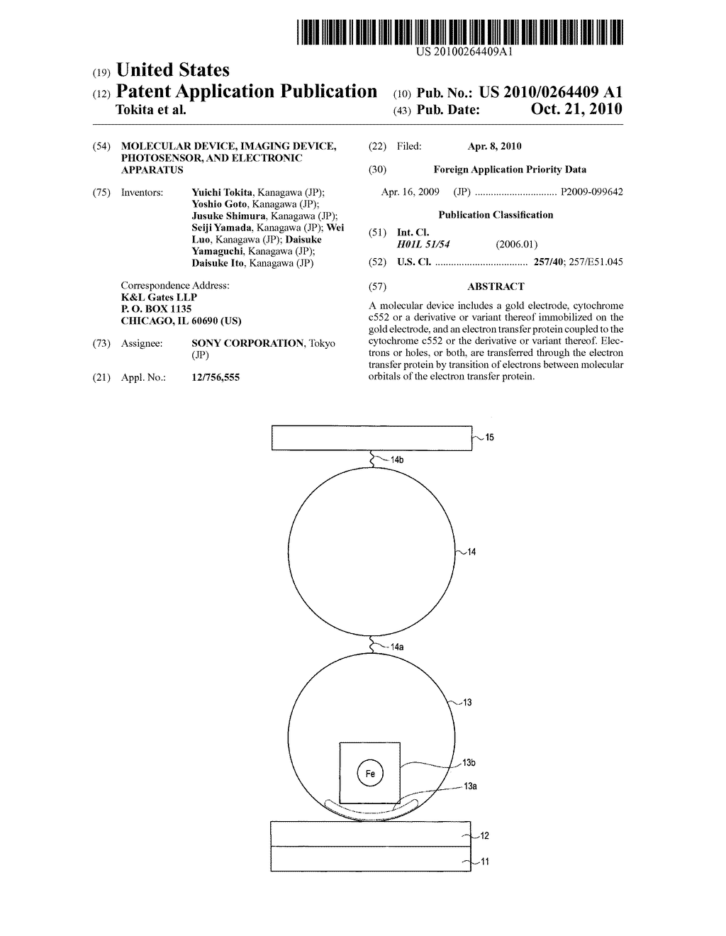 MOLECULAR DEVICE, IMAGING DEVICE, PHOTOSENSOR, AND ELECTRONIC APPARATUS - diagram, schematic, and image 01
