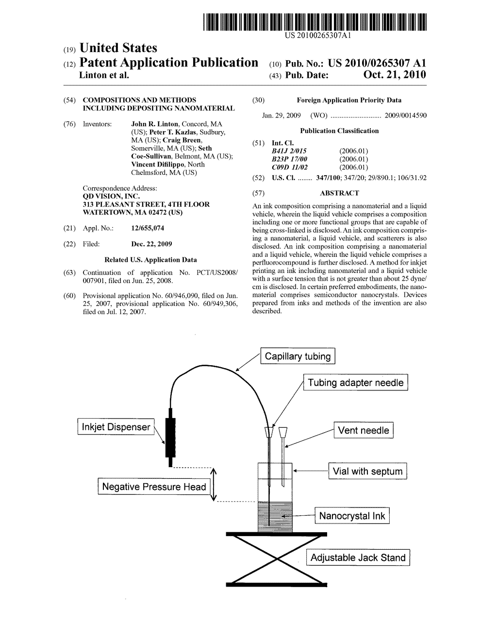 Compositions and methods including depositing nanomaterial - diagram, schematic, and image 01