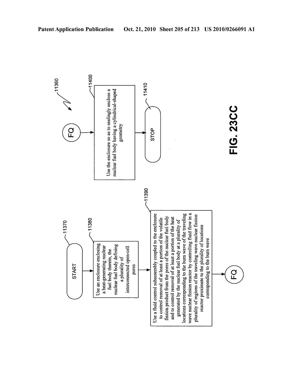 Nuclear fission reactor fuel assembly and system configured for controlled removal of a volatile fission product and heat released by a burn wave in a traveling wave nuclear fission reactor and method for same - diagram, schematic, and image 206