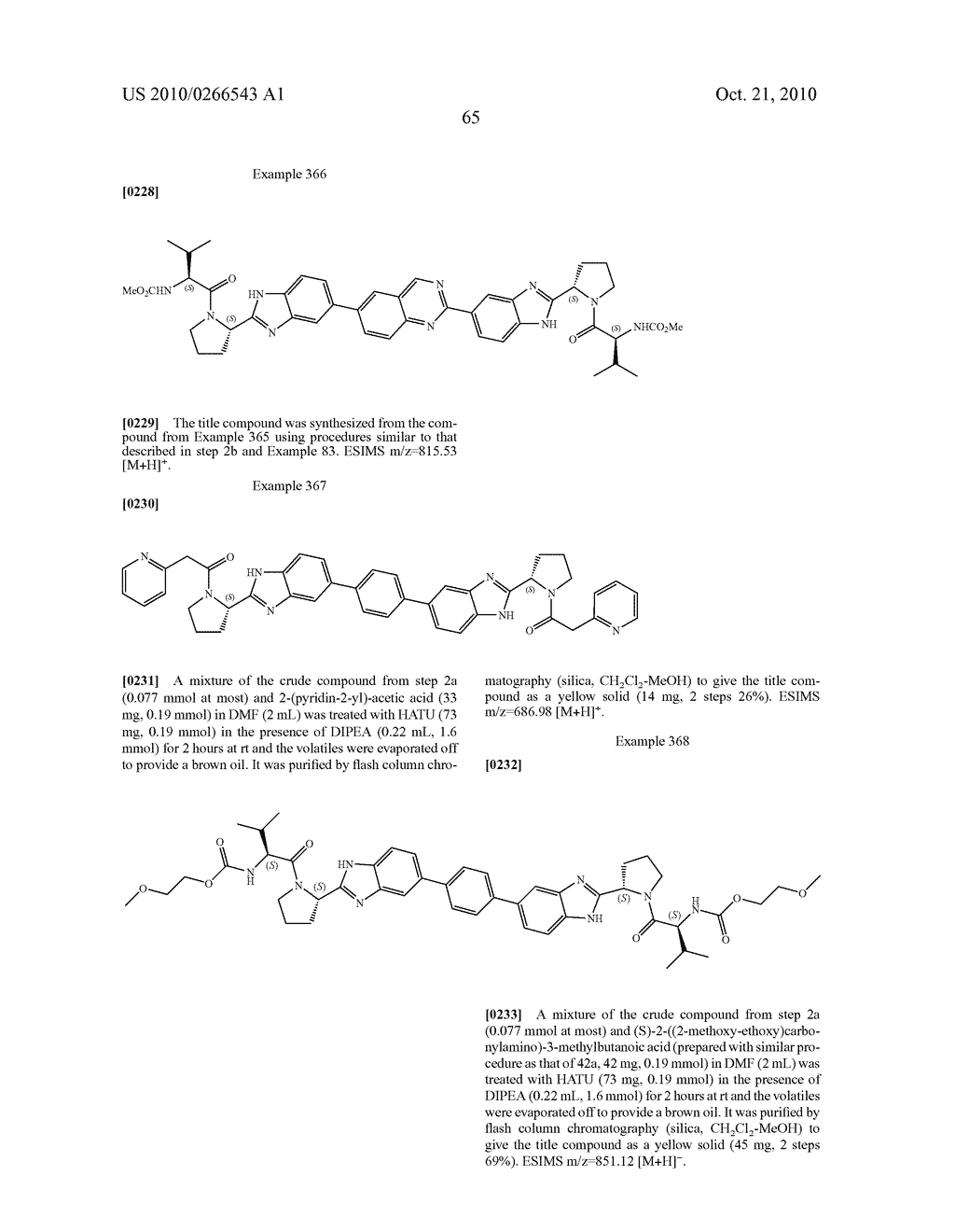LINKED DIBENZIMIDAZOLE ANTIVIRALS - diagram, schematic, and image 66