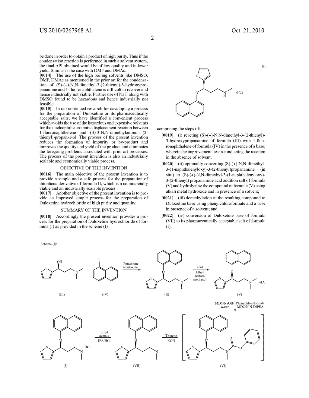METHOD FOR THE PREPARATION OF DULOXETINE HYDROCHLORIDE - diagram, schematic, and image 03