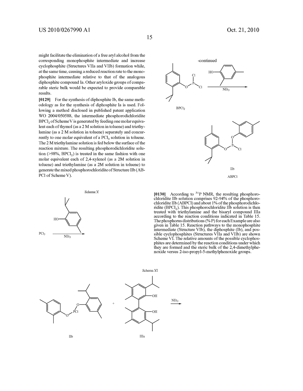 HIGHLY SELECTIVE PROCESS FOR PRODUCING ORGANODIPHOSPHITES - diagram, schematic, and image 16