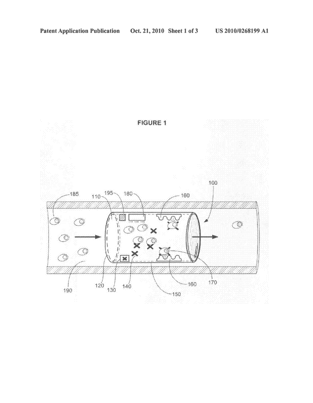 Device for passively removing a target component from blood or lymph of a vertebrate subject - diagram, schematic, and image 02