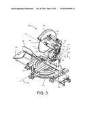 MITER SAW WITH BEVEL LOCK ARRANGEMENT diagram and image