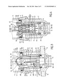 HYDRAULIC MACHINE, IN PARTICULAR HYDRAULIC MOTOR, WITH A RECIPROCATING MOVEMENT, AND DIFFERENTIAL PISTON FOR SUCH A MACHINE diagram and image