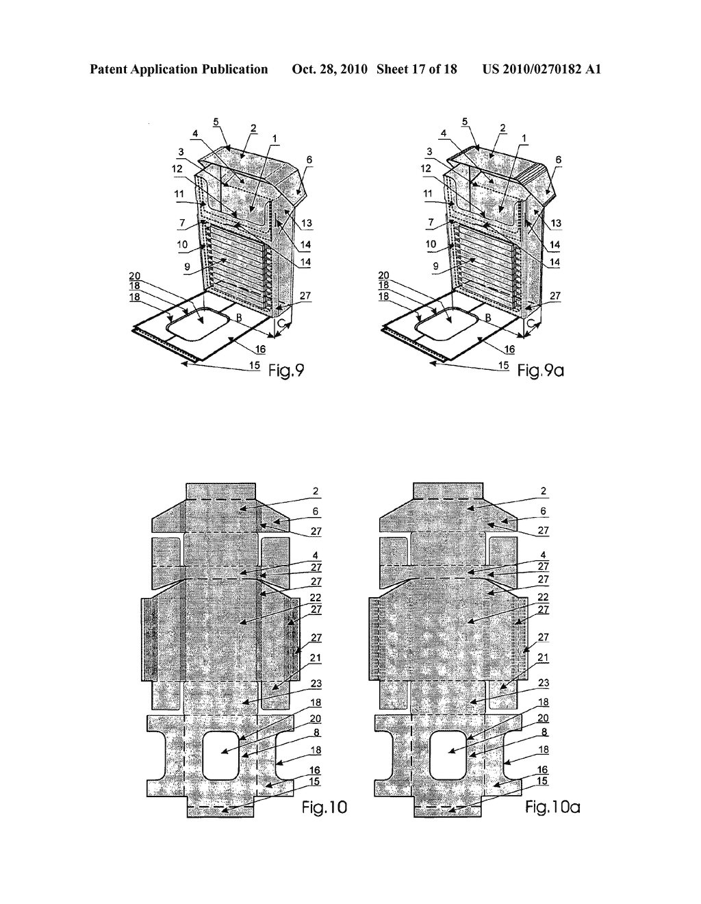 Cigarette box and its blank - diagram, schematic, and image 18