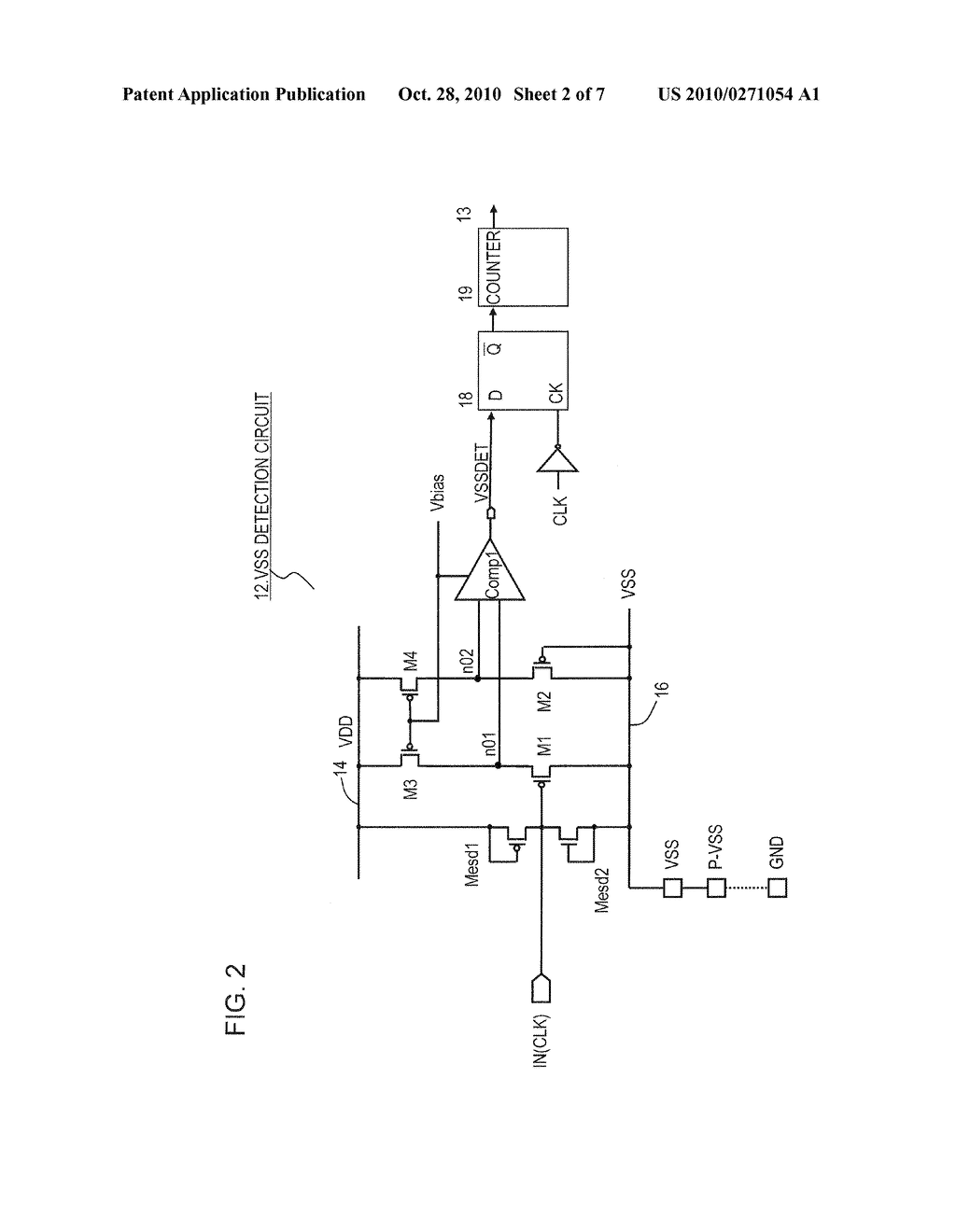 INTEGRATED CIRCUIT DEVICE HAVING GROUND OPEN DETECTION CIRCUIT - diagram,  schematic, and image 03