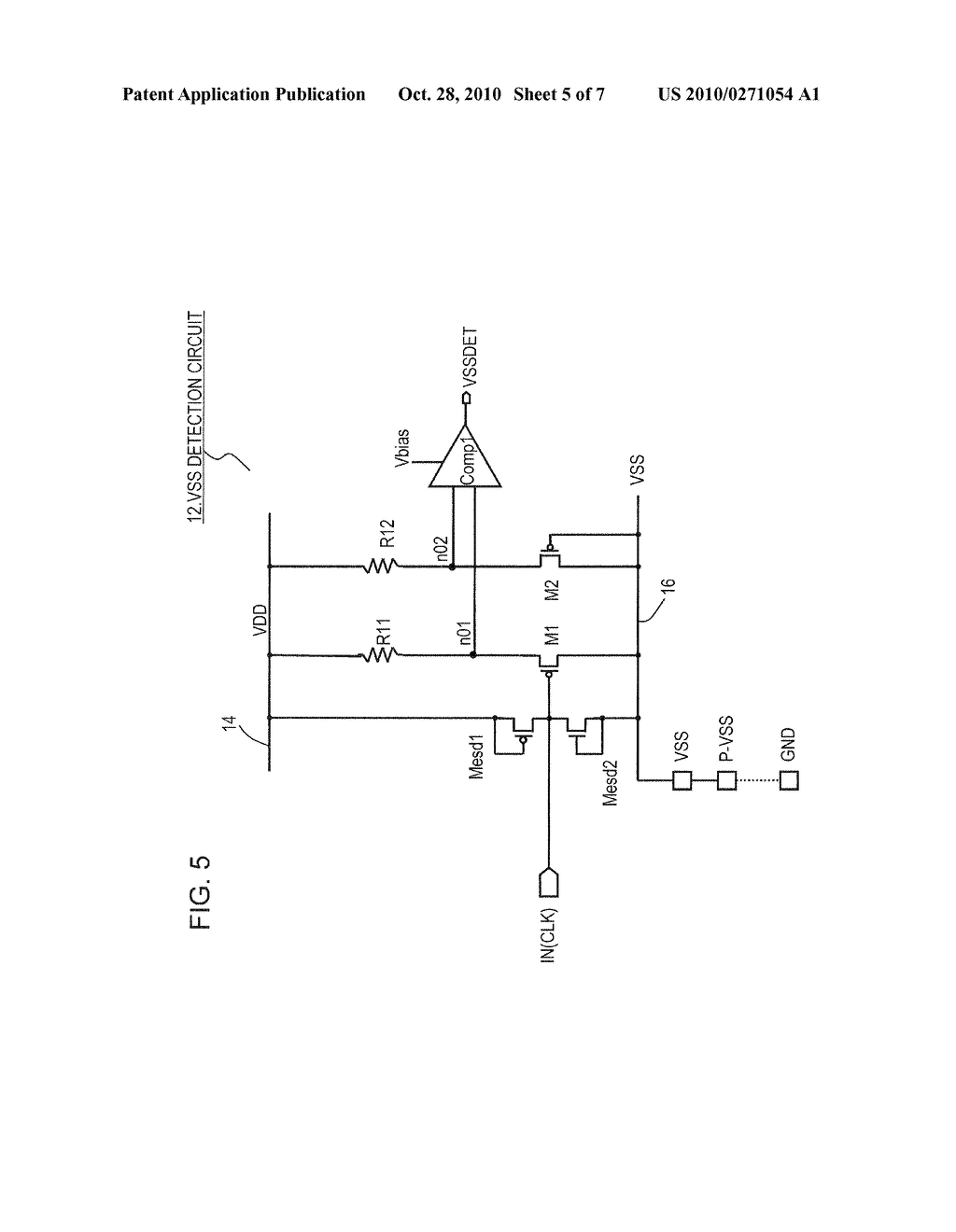 INTEGRATED CIRCUIT DEVICE HAVING GROUND OPEN DETECTION CIRCUIT - diagram,  schematic, and image 06
