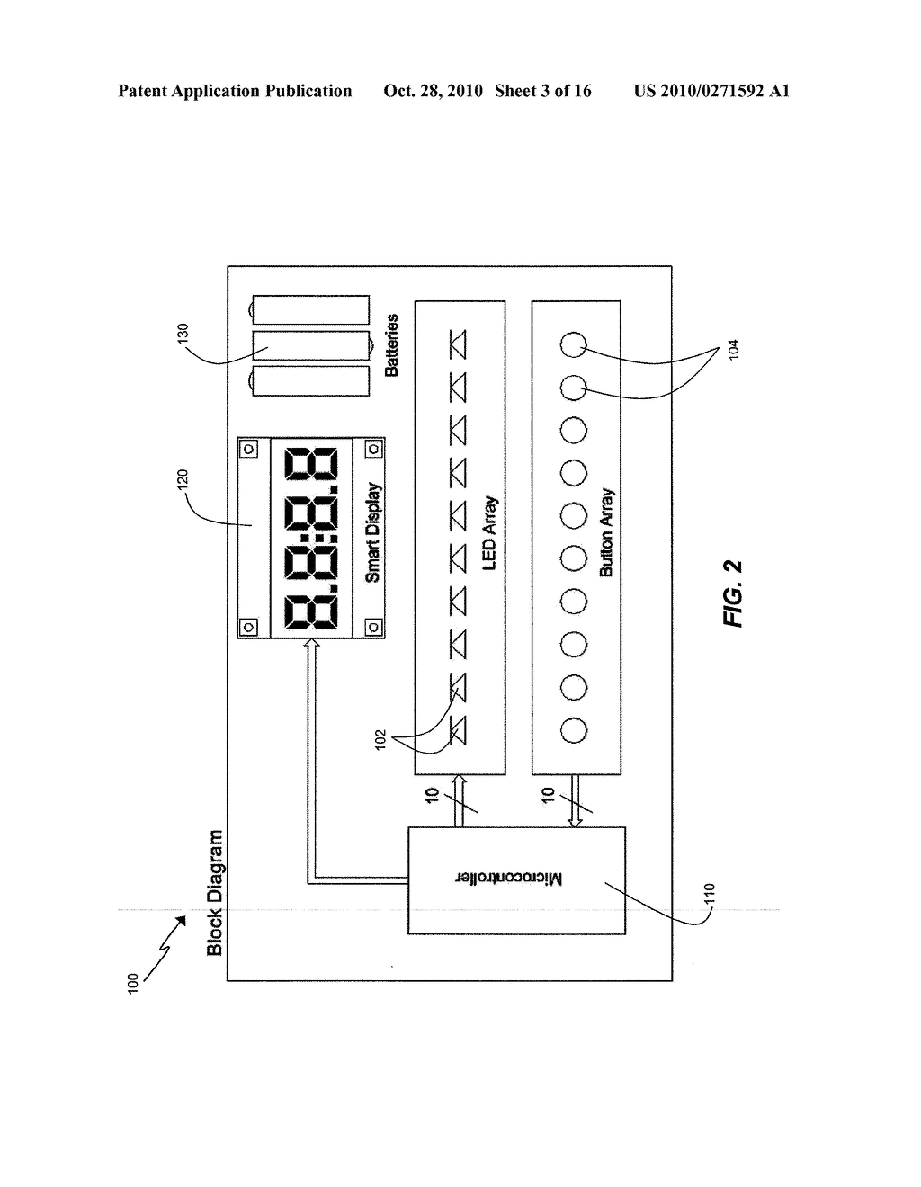 APPARATUS FOR MEASURING CRITICAL FLICKER FUSION FREQUENCY AND METHODS OF USING SAME - diagram, schematic, and image 04