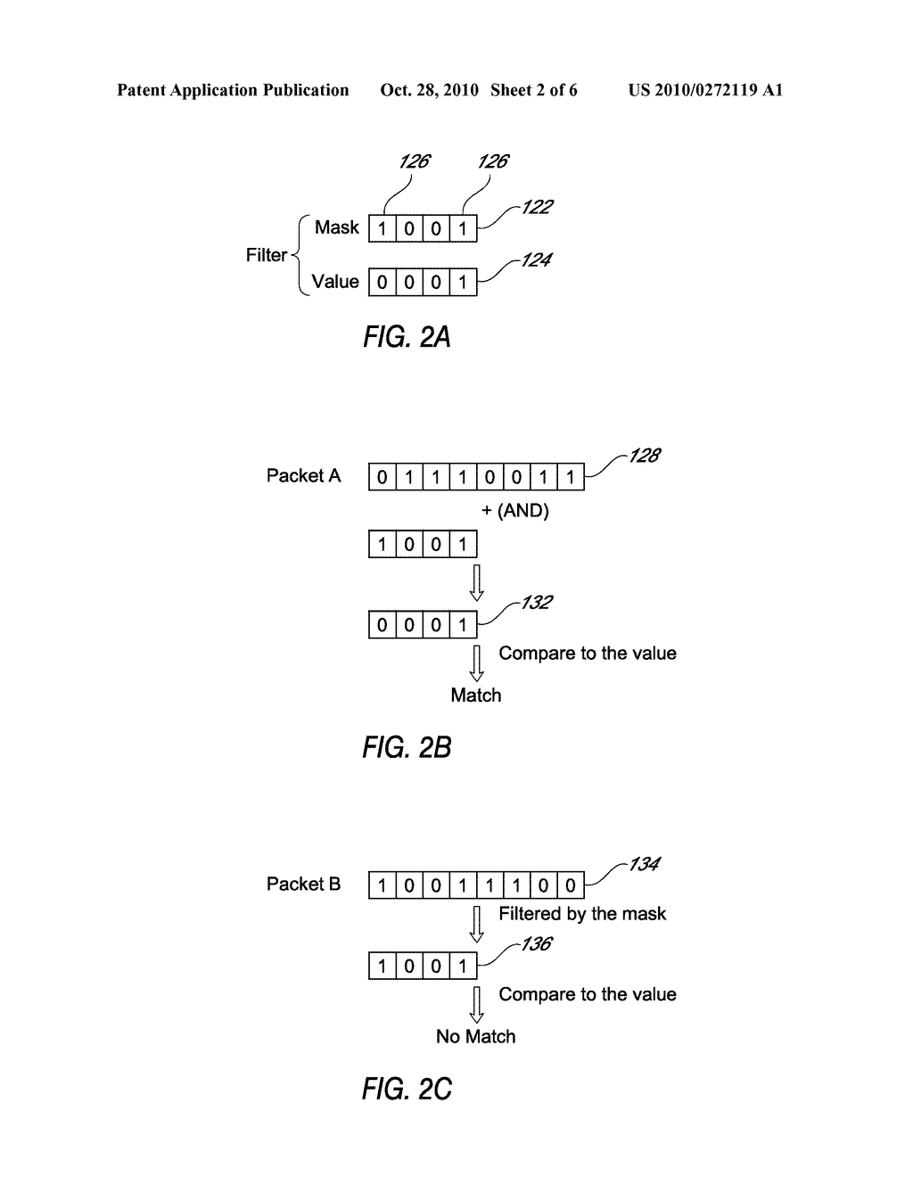 SYSTEM AND METHOD FOR FILTERING A DATA PACKET USING A COMBINED FILTER - diagram, schematic, and image 03
