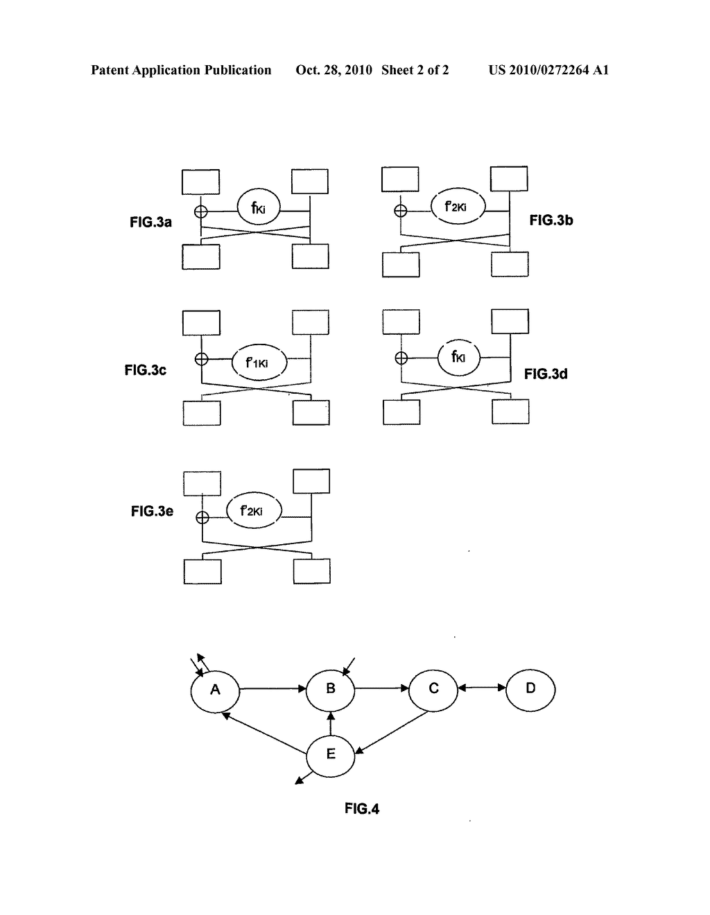 METHOD FOR MAKING SAFE AN ELECTRONIC CRYPTOGRAPHY ASSEMBLY WITH A SECRET KEY - diagram, schematic, and image 03