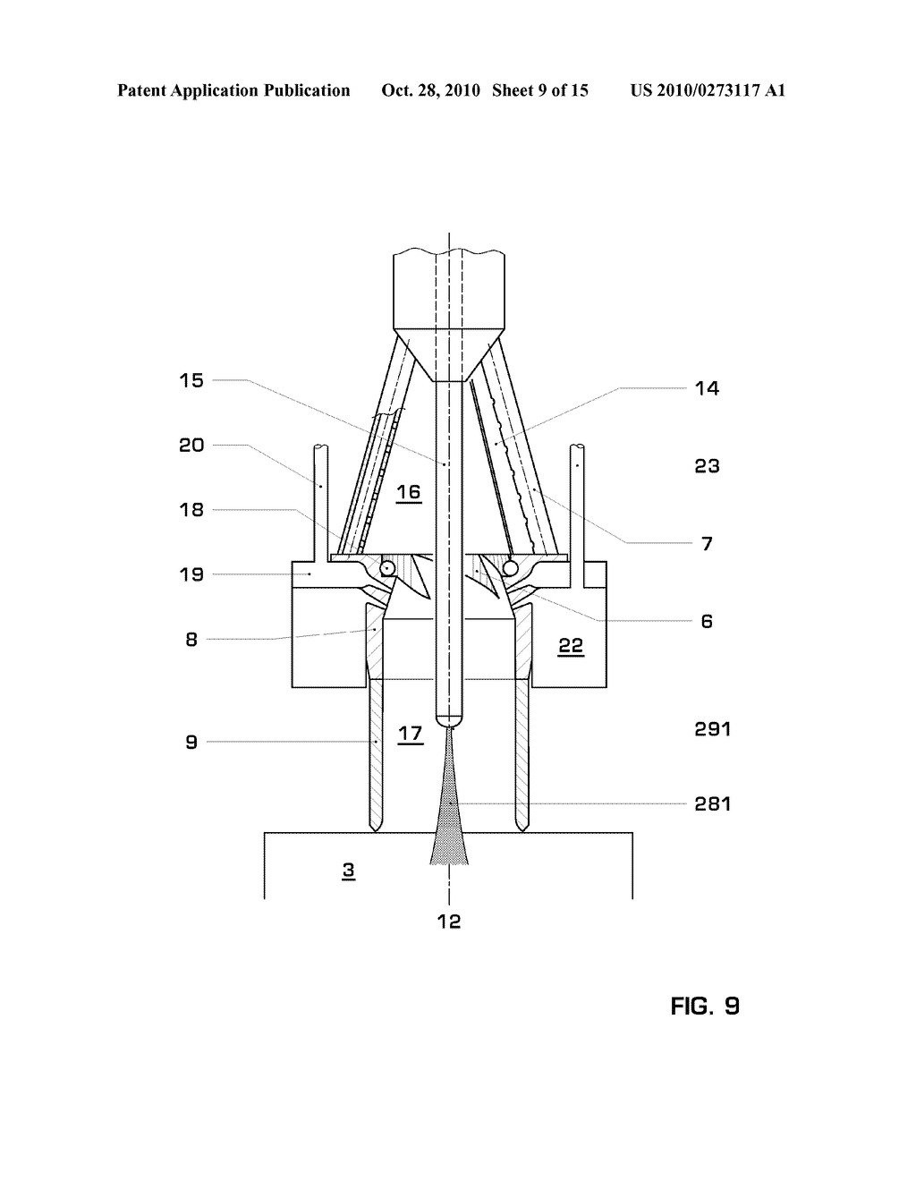 PREMIX BURNER FOR A GAS TURBINE - diagram, schematic, and image 10