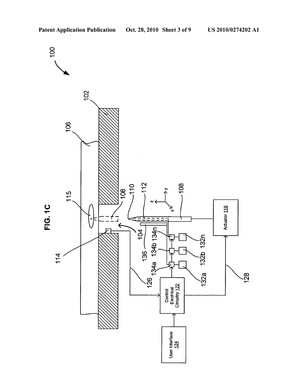 Systems and methods for automatically inserting a needle into a living subject - diagram, schematic, and image 04