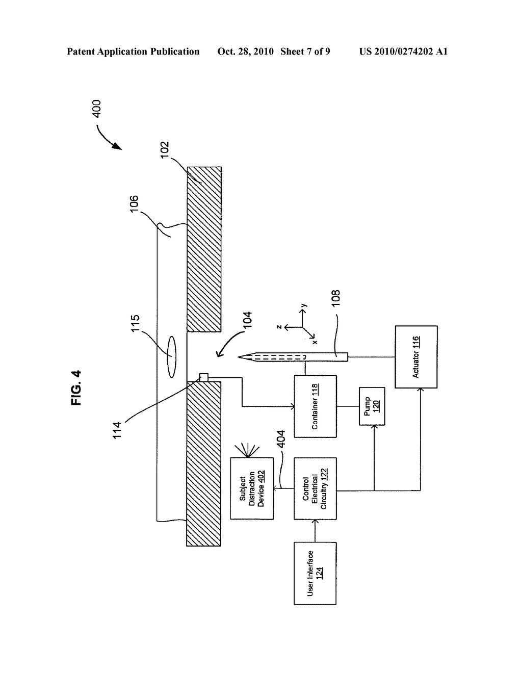 Systems and methods for automatically inserting a needle into a living subject - diagram, schematic, and image 08