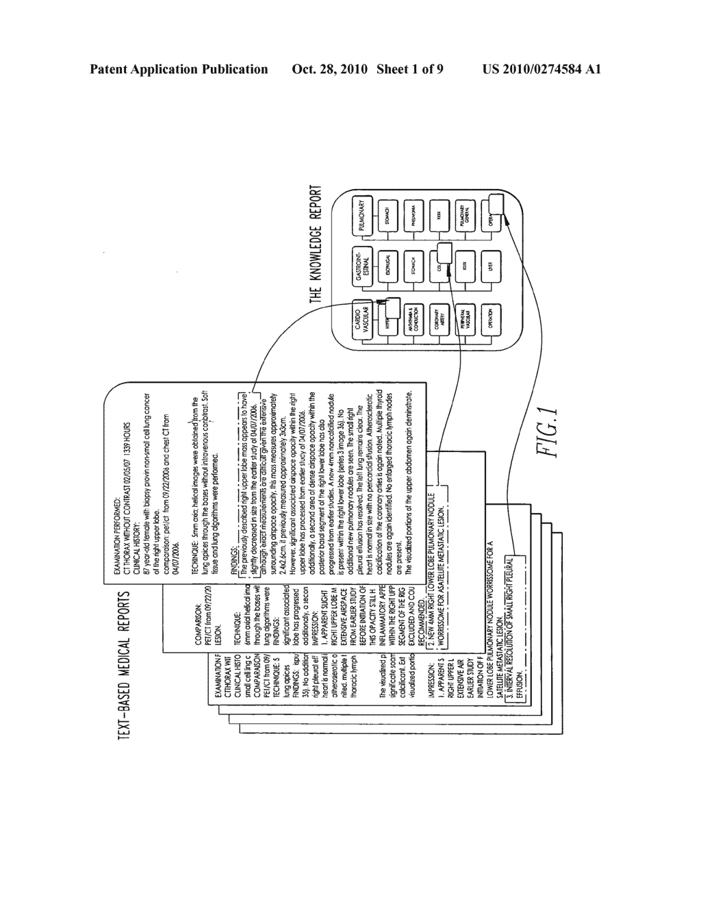 Method and system for presenting and processing multiple text-based medical reports - diagram, schematic, and image 02