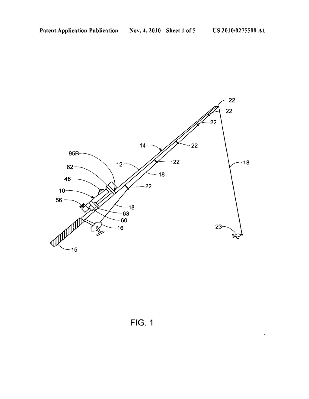 Attachable and detachable vibration generating device for a fishing rod - diagram, schematic, and image 02