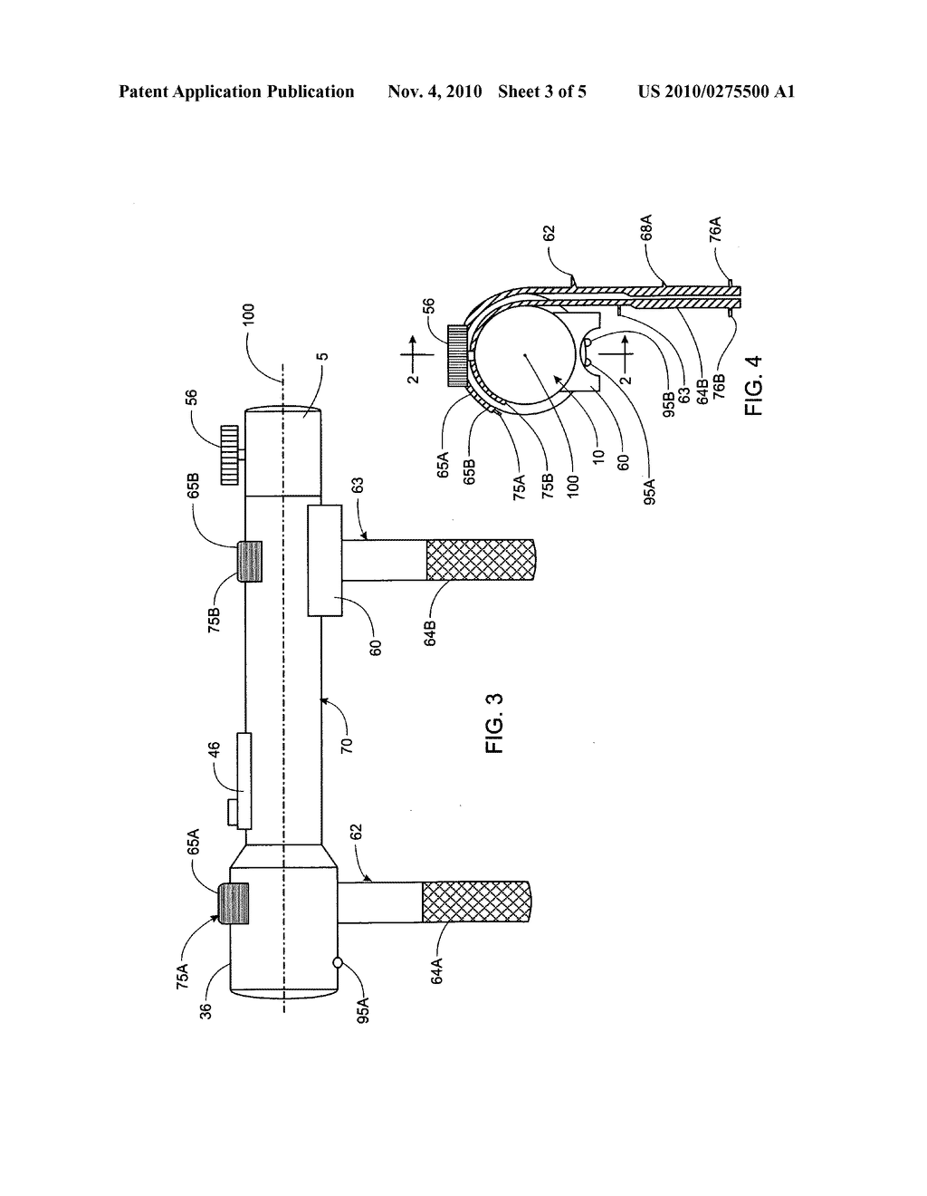 Attachable and detachable vibration generating device for a fishing rod - diagram, schematic, and image 04