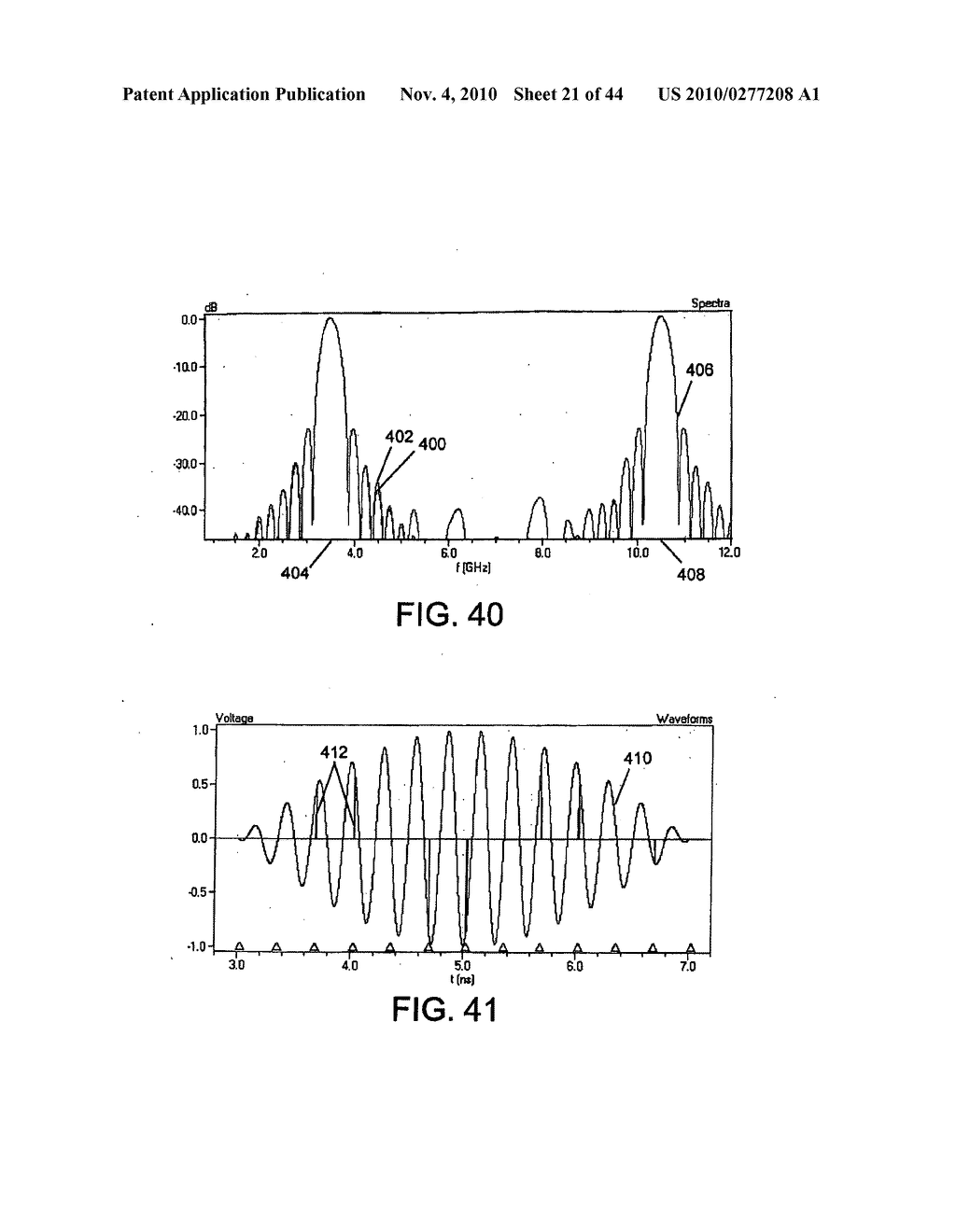 METHOD AND APPARATUS FOR GENERATING RF WAVEFORMS HAVING AGGREGATE ENERGY WITH DESIRED SPECTRAL CHARACTERISTICS - diagram, schematic, and image 22