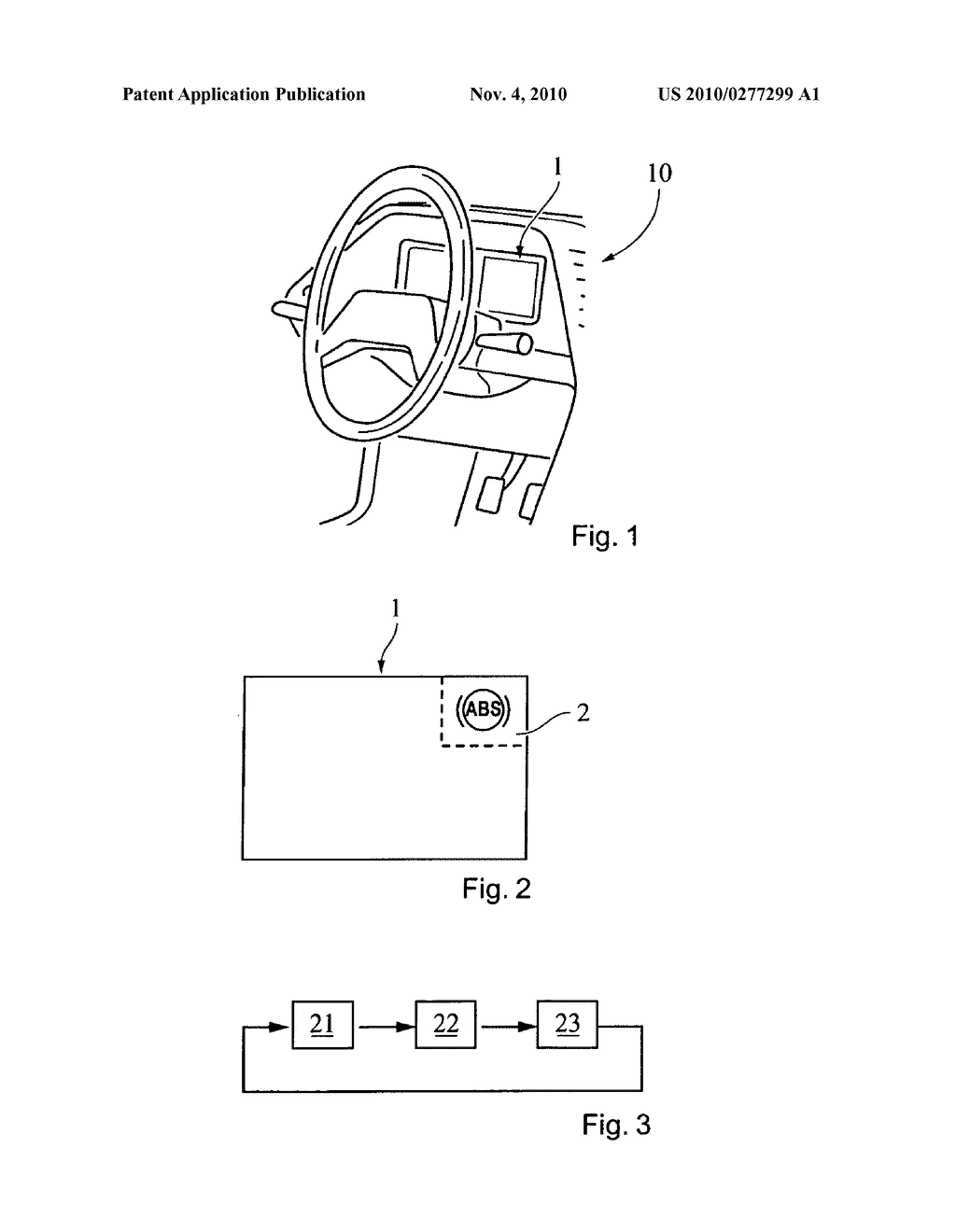 INSTRUMENT PANEL AND METHOD FOR DISPLAYING A FIRST SYMBOL AND A SECOND SYMBOL - diagram, schematic, and image 02