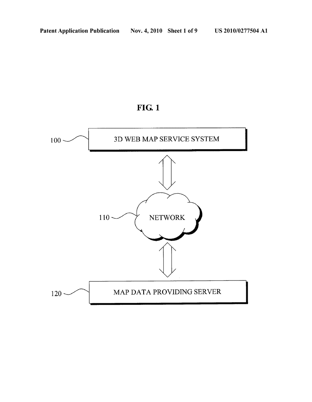 METHOD AND SYSTEM FOR SERVING THREE DIMENSION WEB MAP SERVICE USING AUGMENTED REALITY - diagram, schematic, and image 02