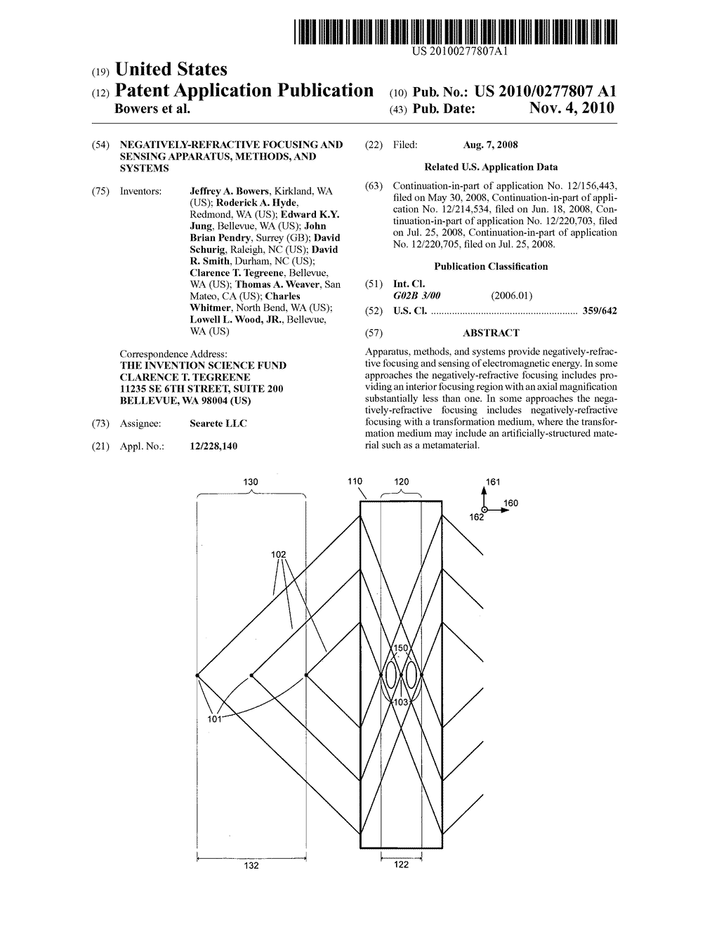 NEGATIVELY-REFRACTIVE FOCUSING AND SENSING APPARATUS, METHODS, AND SYSTEMS - diagram, schematic, and image 01