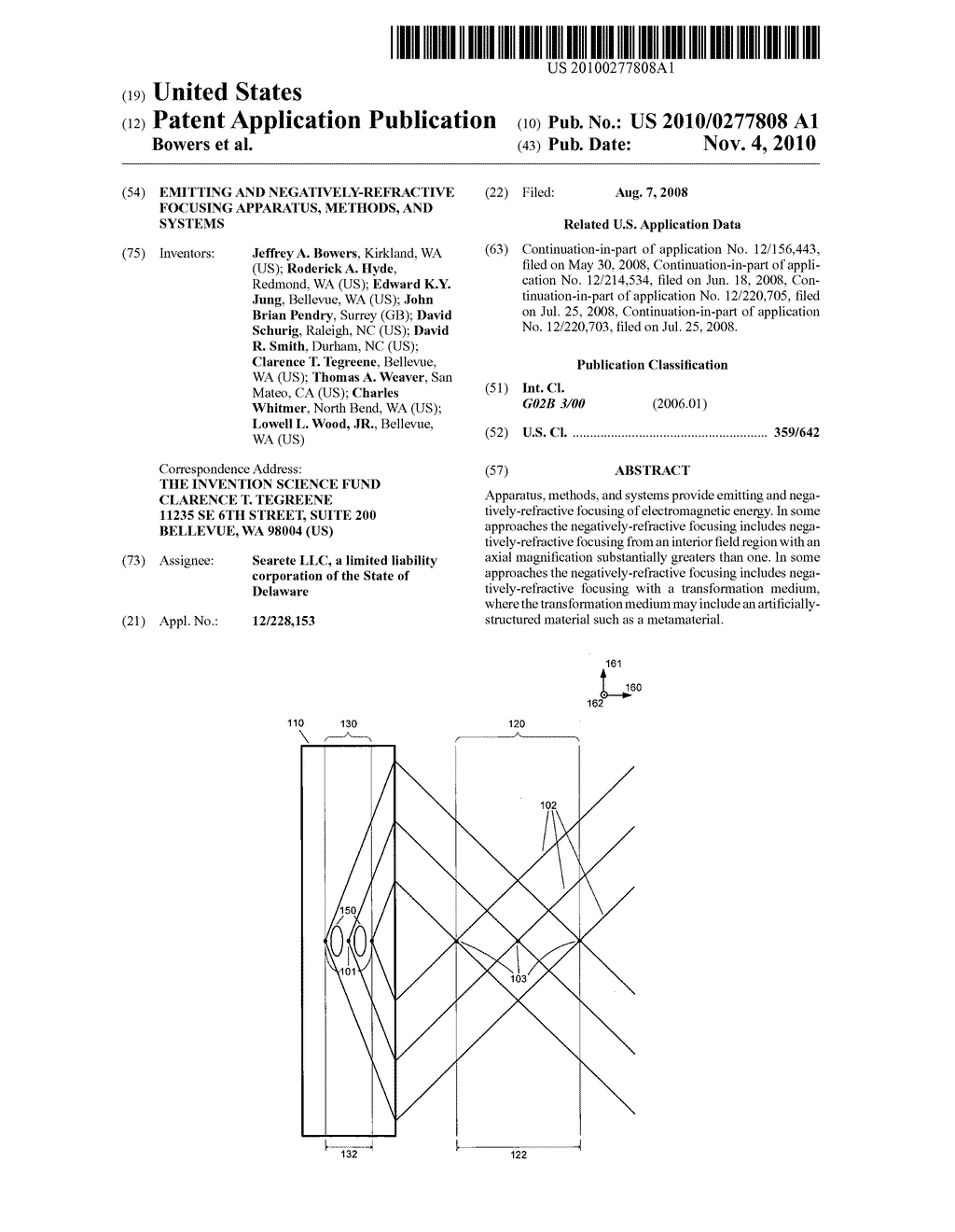 Emitting and negatively-refractive focusing apparatus, methods, and systems - diagram, schematic, and image 01