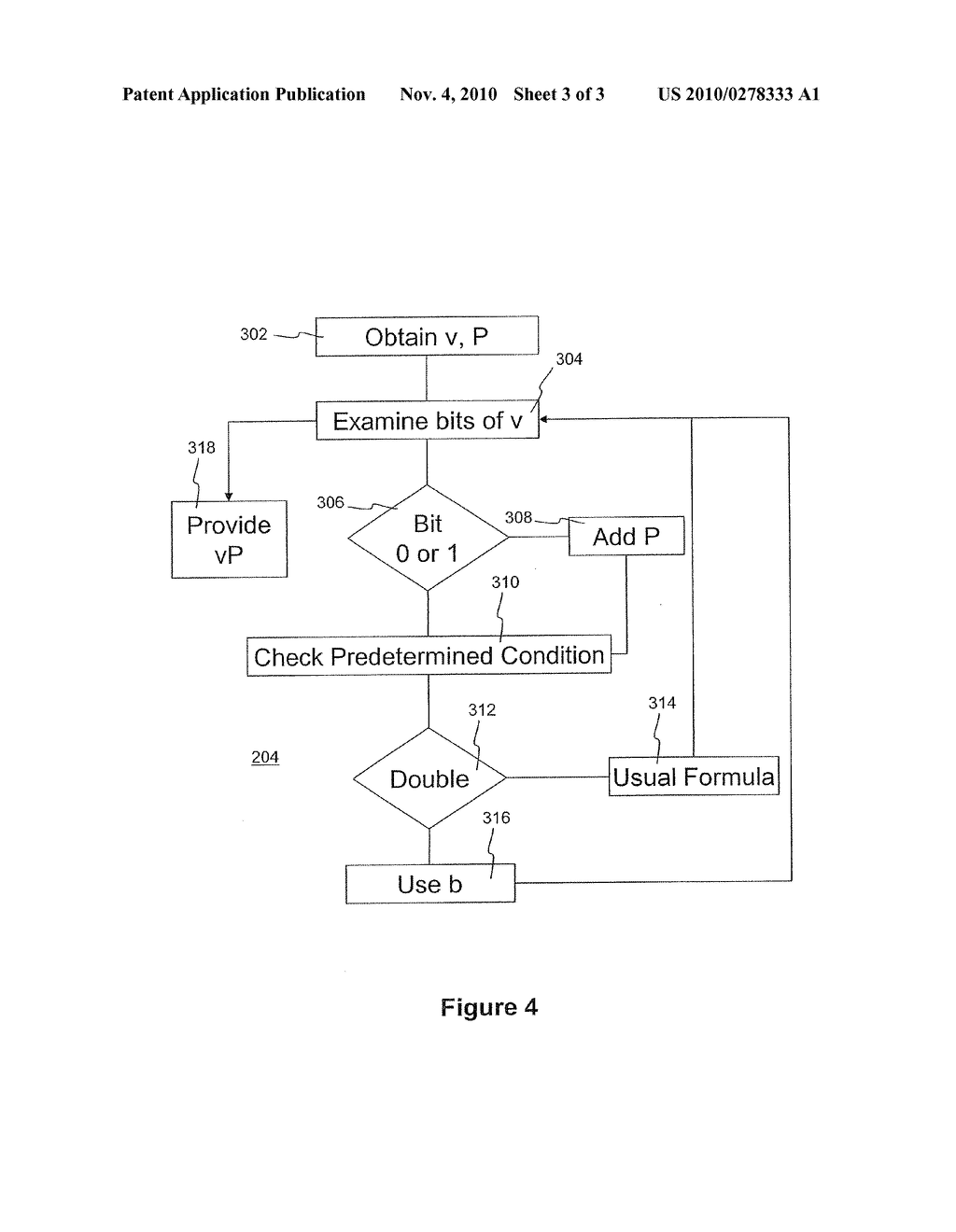 METHOD AND APPARATUS FOR PERFORMING ELLIPTIC CURVE ARITHMETIC - diagram, schematic, and image 04
