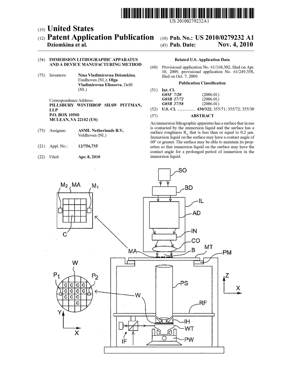 IMMERSION LITHOGRAPHIC APPARATUS AND A DEVICE MANUFACTURING METHOD - diagram, schematic, and image 01